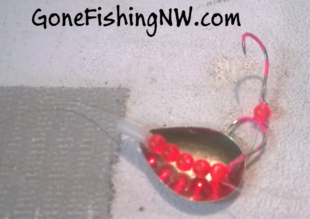 Red Kokanee Spinner