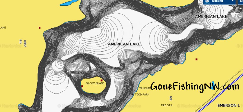 American Lake Navionics Web Map