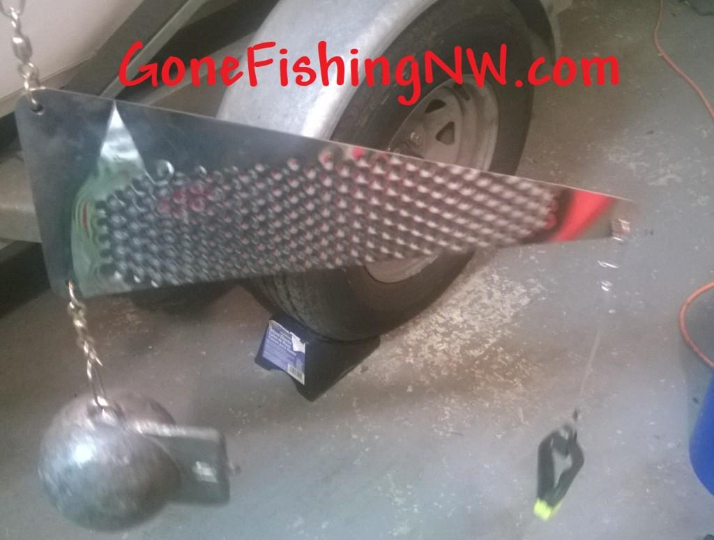 Downrigger Rudder Flasher