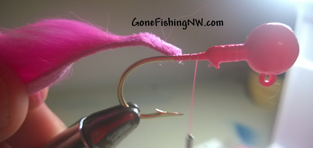 Pink Salmon Bunny Jig Tying - Part 1