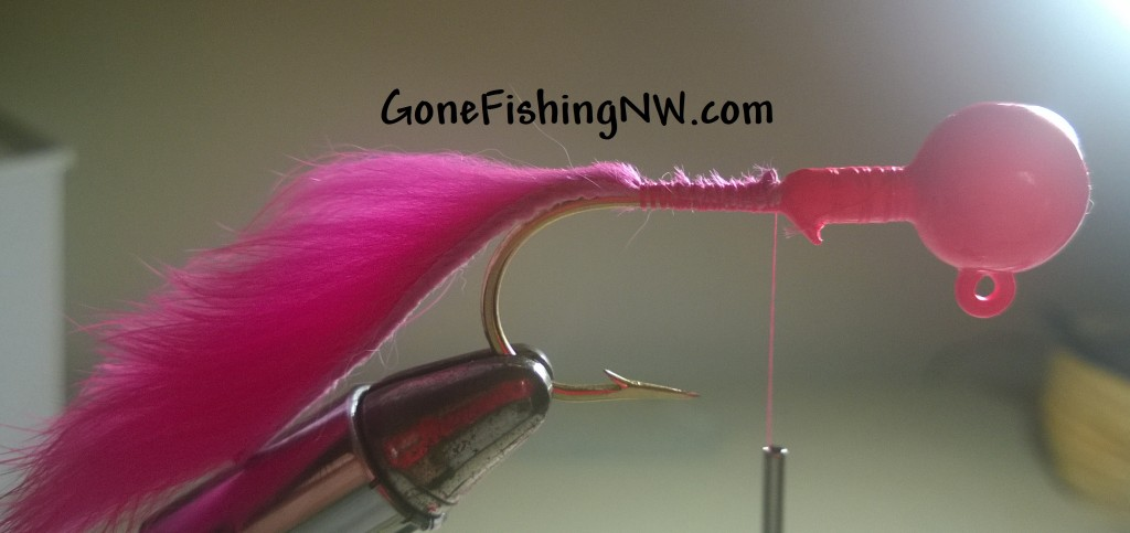 Pink Salmon Bunny Jig Tying - Part 2
