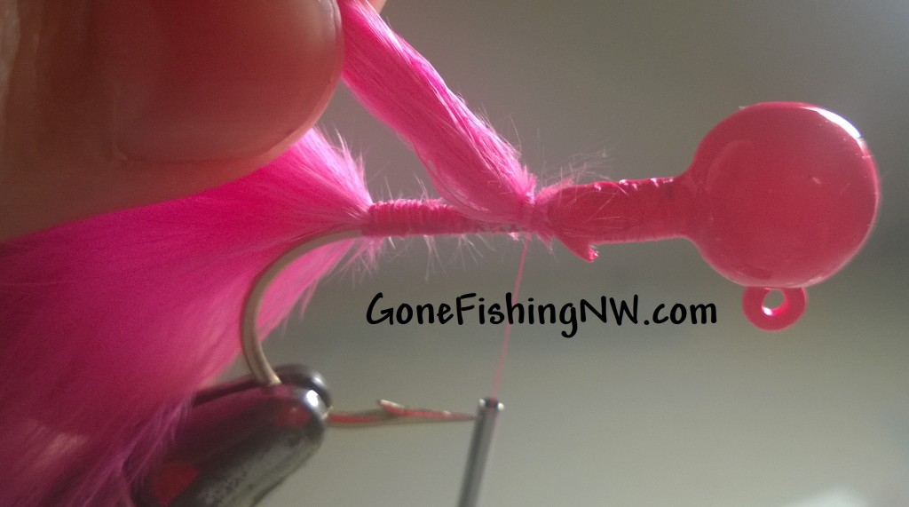Pink Salmon Jig Tying - part 9