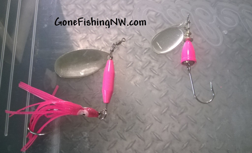 Pink Salmon Spinners
