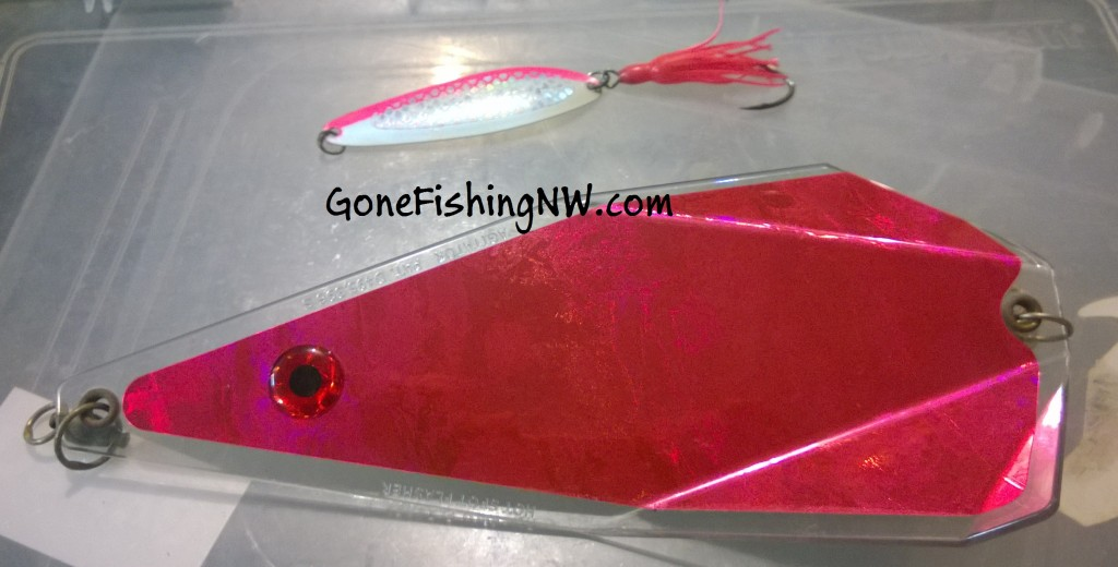 Pink Salmon Spoon and Flasher
