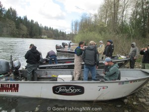 Salmon and Steelhead Guide Boats on the Cowlitz River