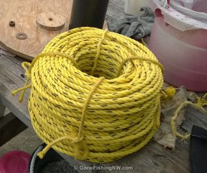 Rope all coiled and ready for the next trip