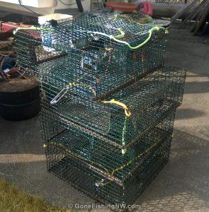 Stack of shrimp pots